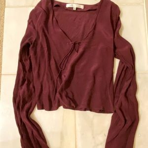 Lovers + friends bell and tie sleeve blouse